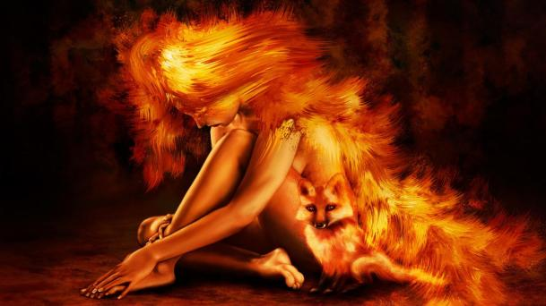 burning-girl-and-fox-facebook-timeline-cover,1366x768,64786