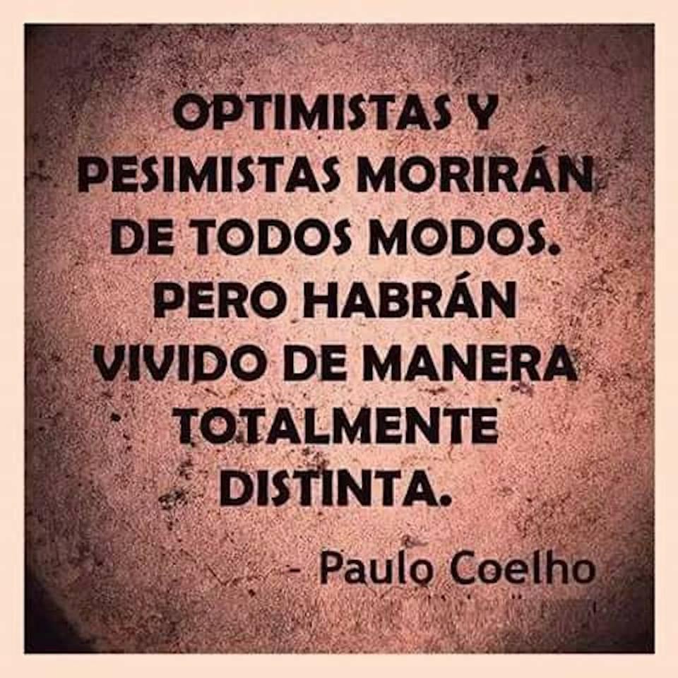 Va de optimistas y pesimistas…